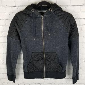 BROOKLYN CALLING   quilted full zip hoodie